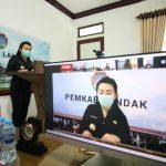 Pemkab Landak Sampaikan RAPBD TA 2021 Secara Virtual ke Legislatif