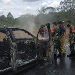 Mobil Kehutanan Diduga Dibakar di Lokasi Penebangan Ilegal Putussibau
