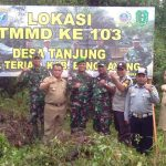 Kodim 01 Bengkayang Giat TMMD Bangun Desa Tanjung