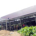 Sujiwo dan TP4D Tinjau Pembangunan Pasar Parit Baru