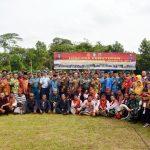TNI Tuntaskan TMMD Imbangan ke-107 di Desa Rasau Jaya Tiga