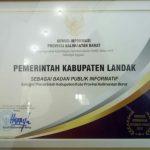 Pemkab Landak Raih Penghargaan Badan Publik Informatif Se-Kalbar