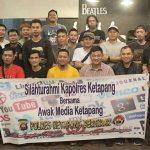 Pos Kopi Pusat Silaturrahim Aliansi Jurnalis Bersama Kapolres Ketapang dan Jajaran