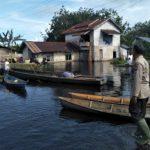 Polres Mempawah Monitoring Wilayah Terdampak Hujan