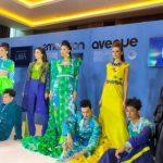 Kombinasi Karung dan Perca Karya Maggie Hutauruk di New York Fashion Week