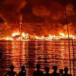 Sintang Membara, 4 Lanting dan 2 Kapal Bandong Ludes Terbakar