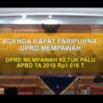 RAPAT PARIPURNA PENDAPAT AKHIR FRAKSI-FRAKSI DPRD TERHADAP RAPERDA APBD TA 2019