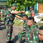 Tradisi Penerimaan Anggota Baru Satuan Kodim 1204/Sanggau