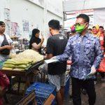 Pedagang dan Pengunjung Pasar Wajib Kenakan Masker