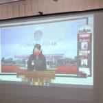 Rapat Paripurna DPRD Landak, Bupati Karolin Sampaikan LKPJ Secara Virtual