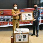 Peduli Covid-19, SMK Santa Maria Bantu APD ke Pemkot