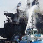Kapal Tanker Meledak dan Terbakar di Belawan Kemarin, Hari Ini Belum Padam