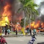 15 Ruko Hangus Terbakar di Kawasan Tugu BI Sintang
