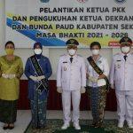 Ketua TP PKK, Dekranasda dan Bunda PAUD Kabupaten Sekadau di Lantik