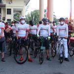 Gowes Bersama Forkopimda di HUT Bhayangkara ke-75, Ini Asa Leysandri Terhadap Polda Kalbar