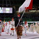 Dipimpin Rio Waida, Kontingen Indonesia Tampil Gagah di Pembukaan Olimpiade Tokyo