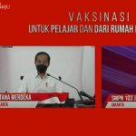 Pantau Lewat Daring, Jokowi Tanya Pelajar yang Disuntik Vaksin Covid-19: Sakit Ndak?