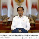 Jokowi: Demonstrasi UU Cipta Kerja Disebabkan Disinformasi di Media Sosial