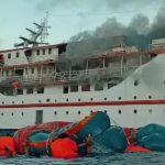 KNKT Investigasi Kapal KM Karya Indah yang Terbakar di Kepulauan Sula