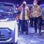 Parade Mobil Listrik di IIMS Hybrid 2021: MG ZS EV sampai Tesla Cybertruck