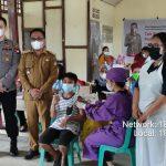 Kapolsek dan Muspika Menjalin Monitoring Vaksinasi di Desa Raba