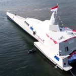 KSAL Luncurkan Kapal Cepat Rudal KRI Golok di Banyuwangi