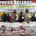 Polisi Jakarta Pusat Ungkap Penyelundupan Sabu 310 Kilogram di Petamburan