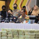 Polisi Ungkap Penyelundupan 353 Kilogram Sabu Jaringan Timur Tengah