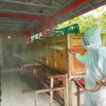 Sadar Bahaya COVID-19, Pemuda Kecamatan Menjalin Lakukan Penyemprotan Disinfektan