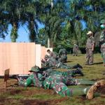 Prajurit TNI Kodim 1207/BS Asah Kemampuan Menembak