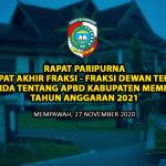 APBD Kabupaten Mempawah TA 2021 Disahkan Rp 1,08 Triliun