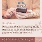 Disdukcapil Kota Pontianak Buka Layanan Online Mulai 28 Juni