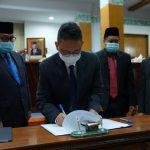 Wali Kota Teken Rancangan Awal Perubahan RPJMD 2020-2024