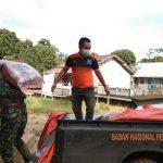 Banjir Kecamatan Meranti, Pemkab Landak Salurkan Bantuan 500 Kg Beras